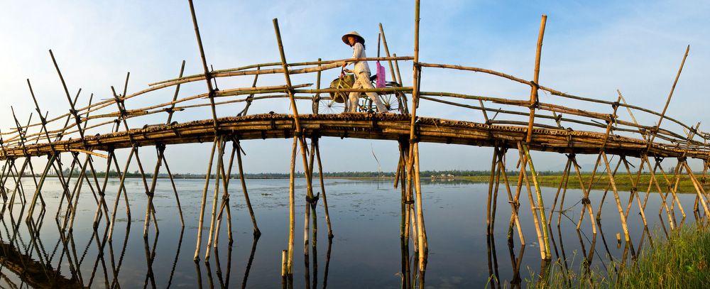 Bamboo bridge at Hoi An
