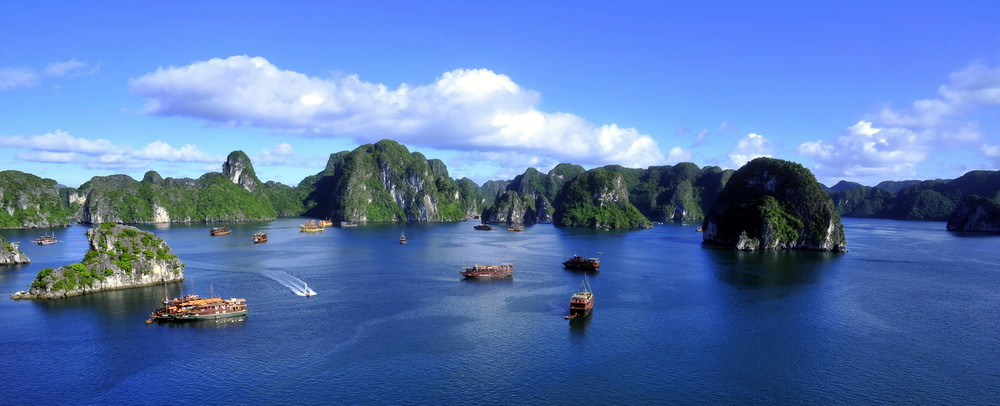 Ha Long Bay, one of the great natural wonders of Asia